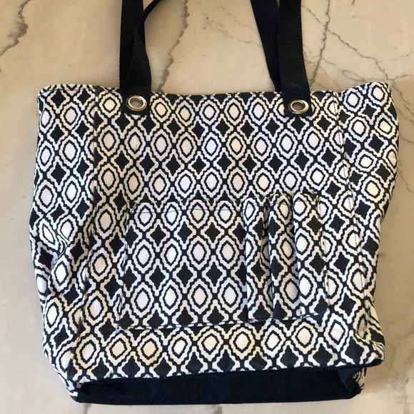 7cc74aa1ce71 Thirty One Tall Organizing Tote Navy Perfect, EUC
